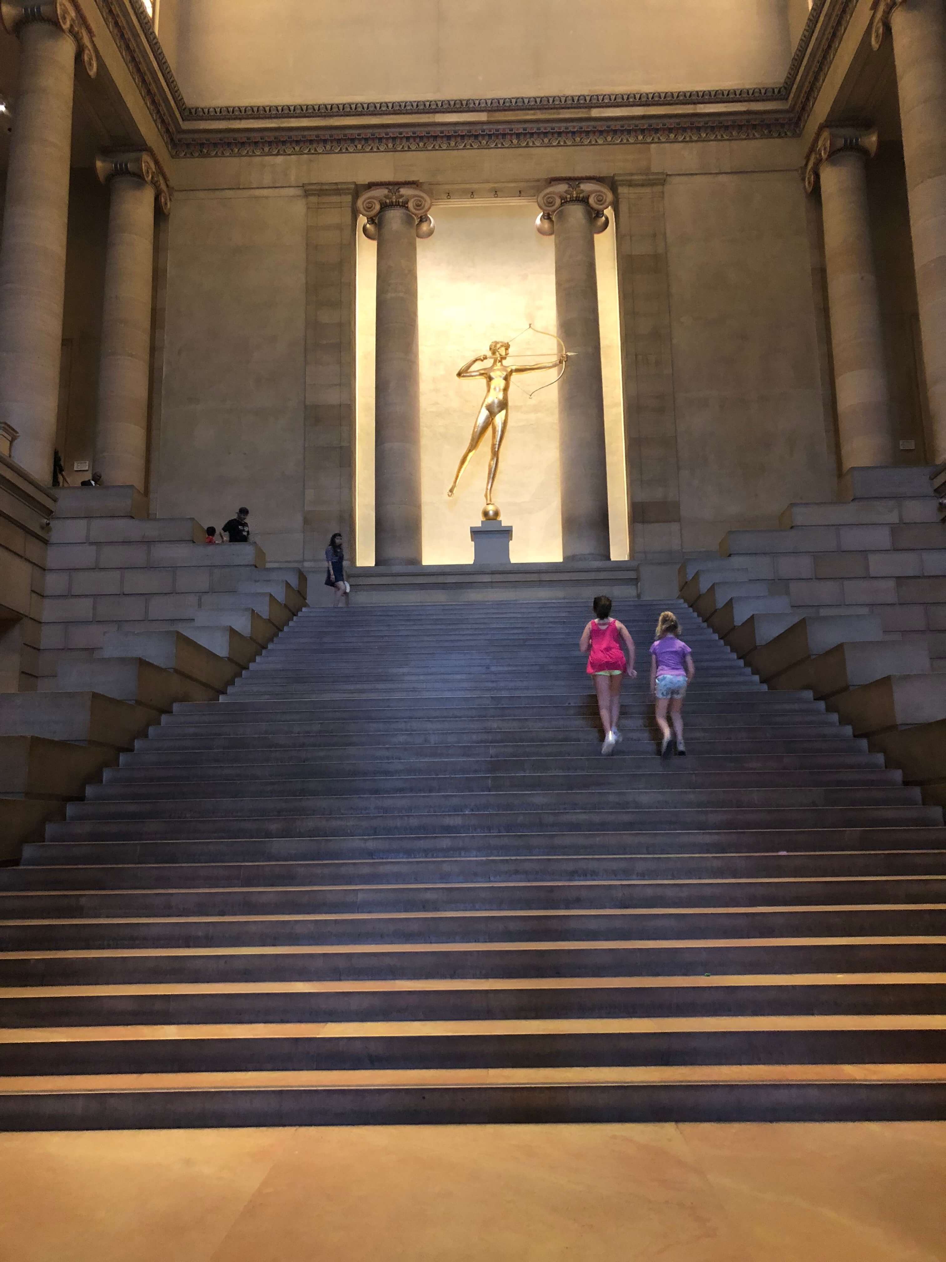 stairs at . Philadelphia Museum of Art