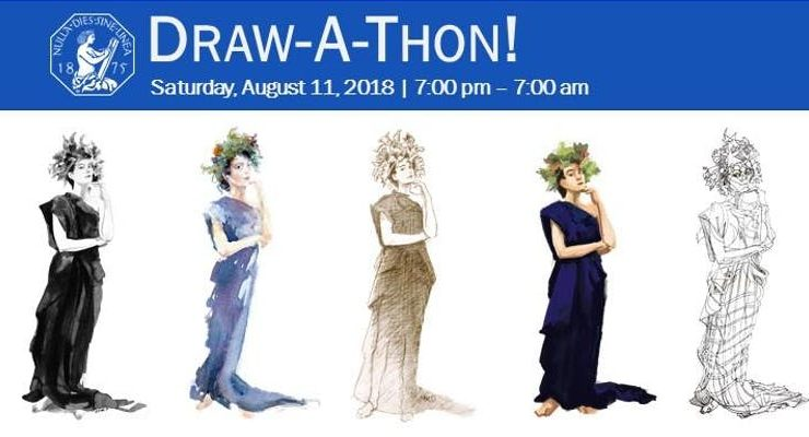 Overnight Draw-A-Thon at the Art Students League