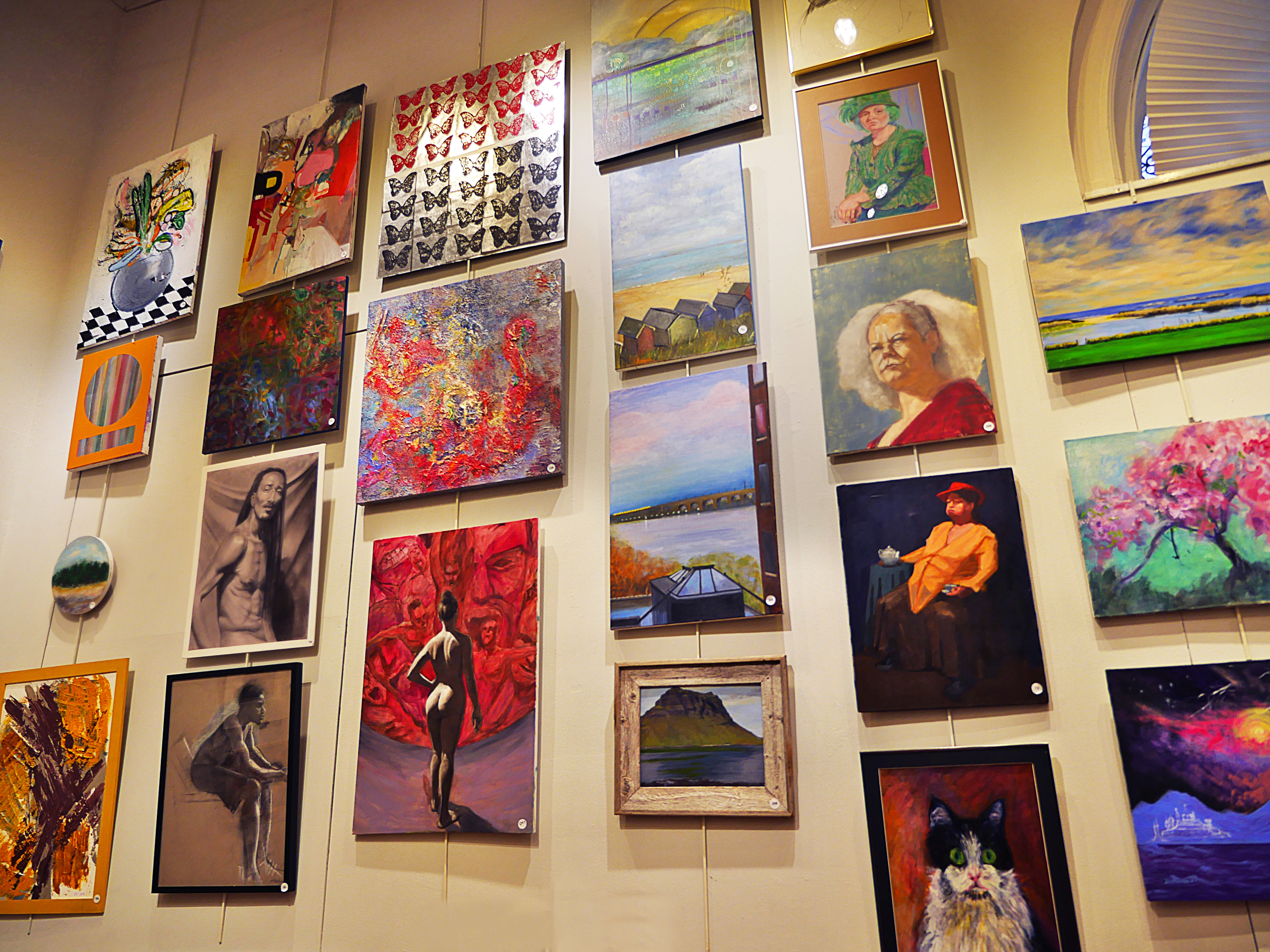 Art Students League of New York holiday art sale