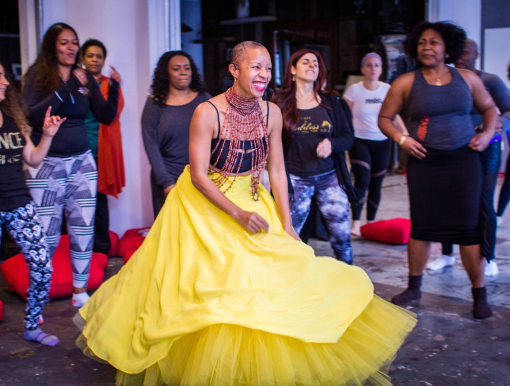 Set to live drums, dance & meditation, Femme! participants take an emotional tour through joy, rage, and more to reach a place of catharsis and empowerment.