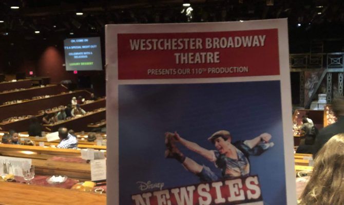Newsies was incredible at the Westchester Broadway Theater