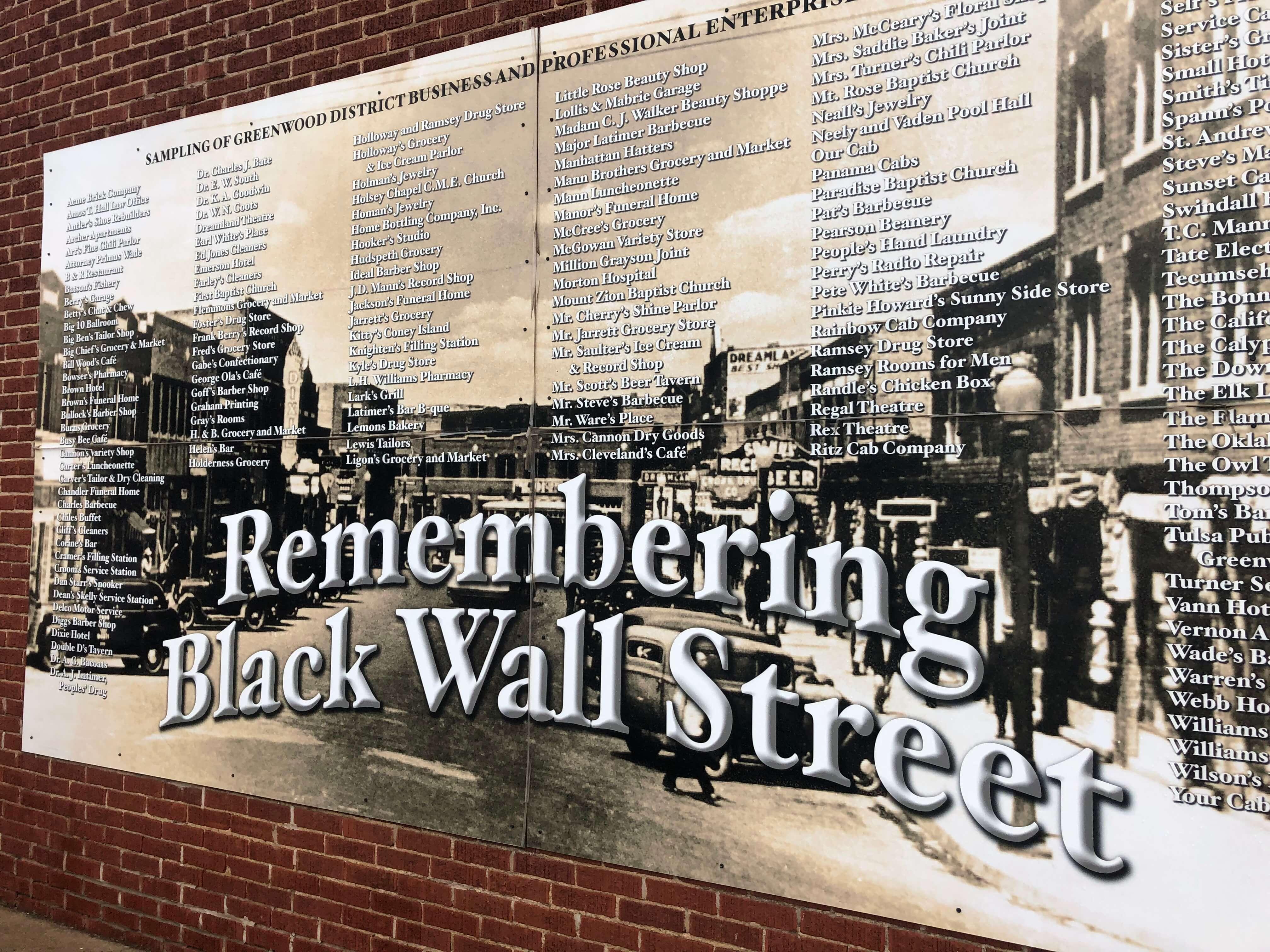 Black Wall Street Tulsa, Oklahoma