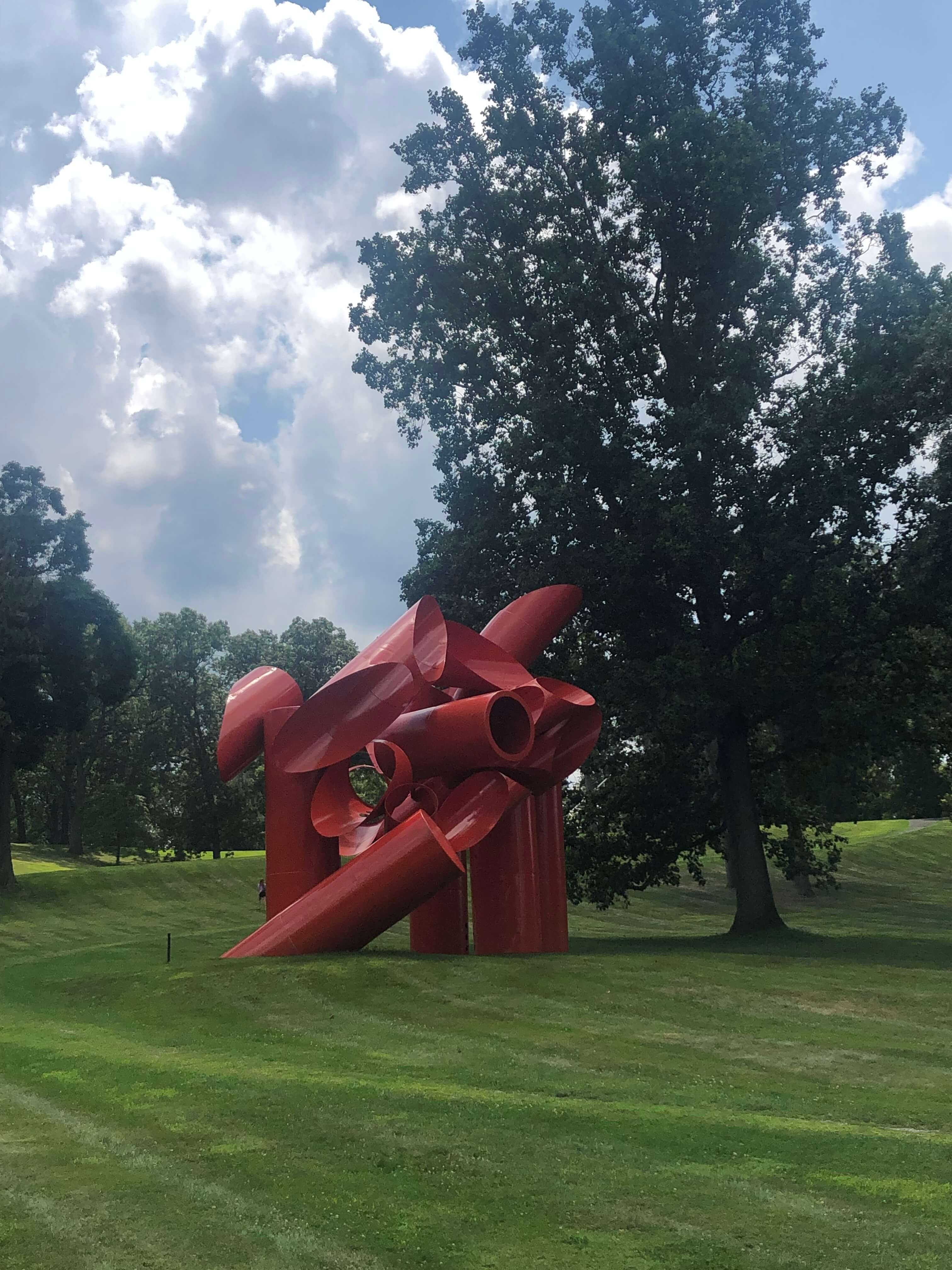 Iliad by Alexander Liberman at the Storm King Arts Center