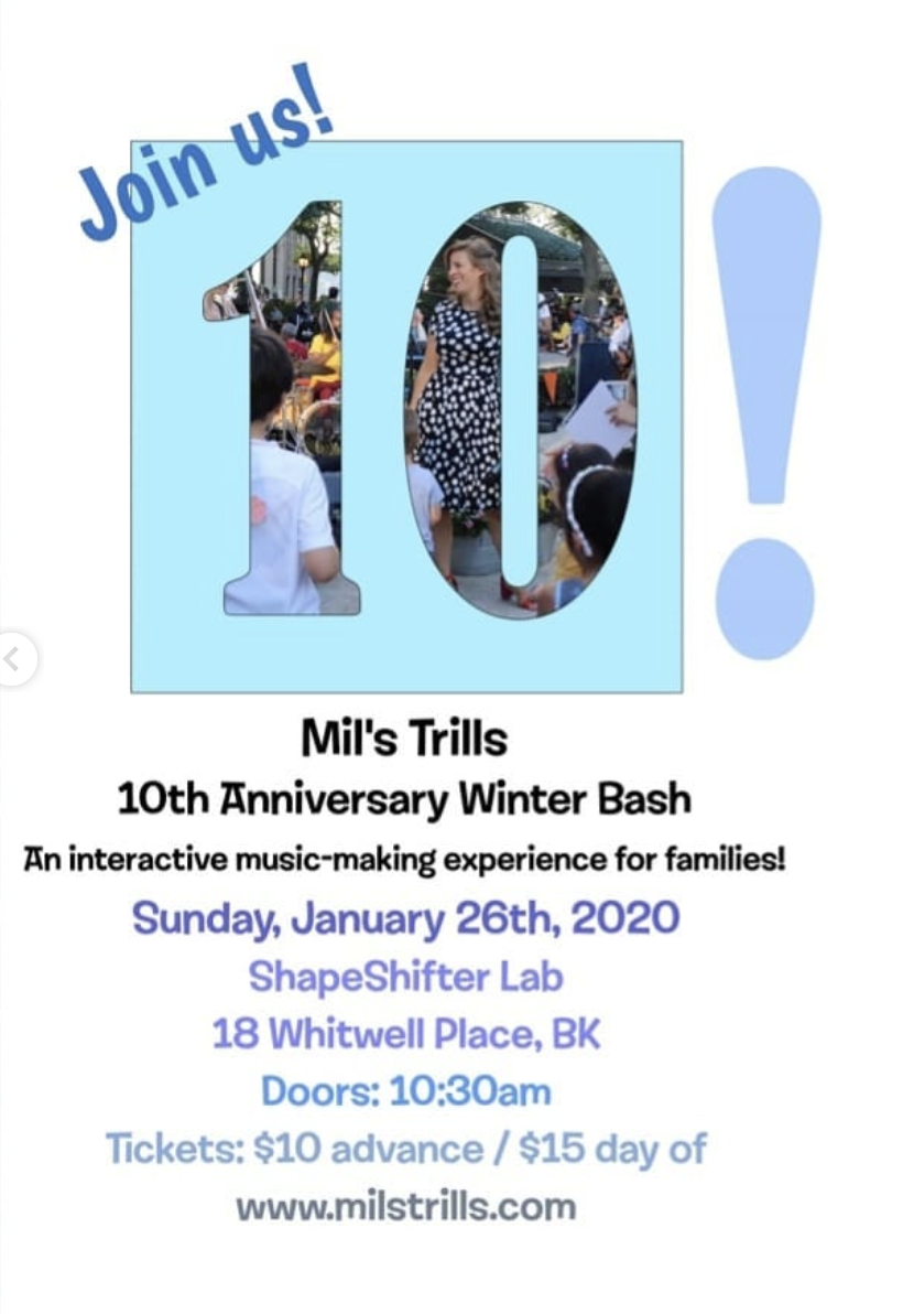 Mil's Trills 10th Anniversary Winter Bash