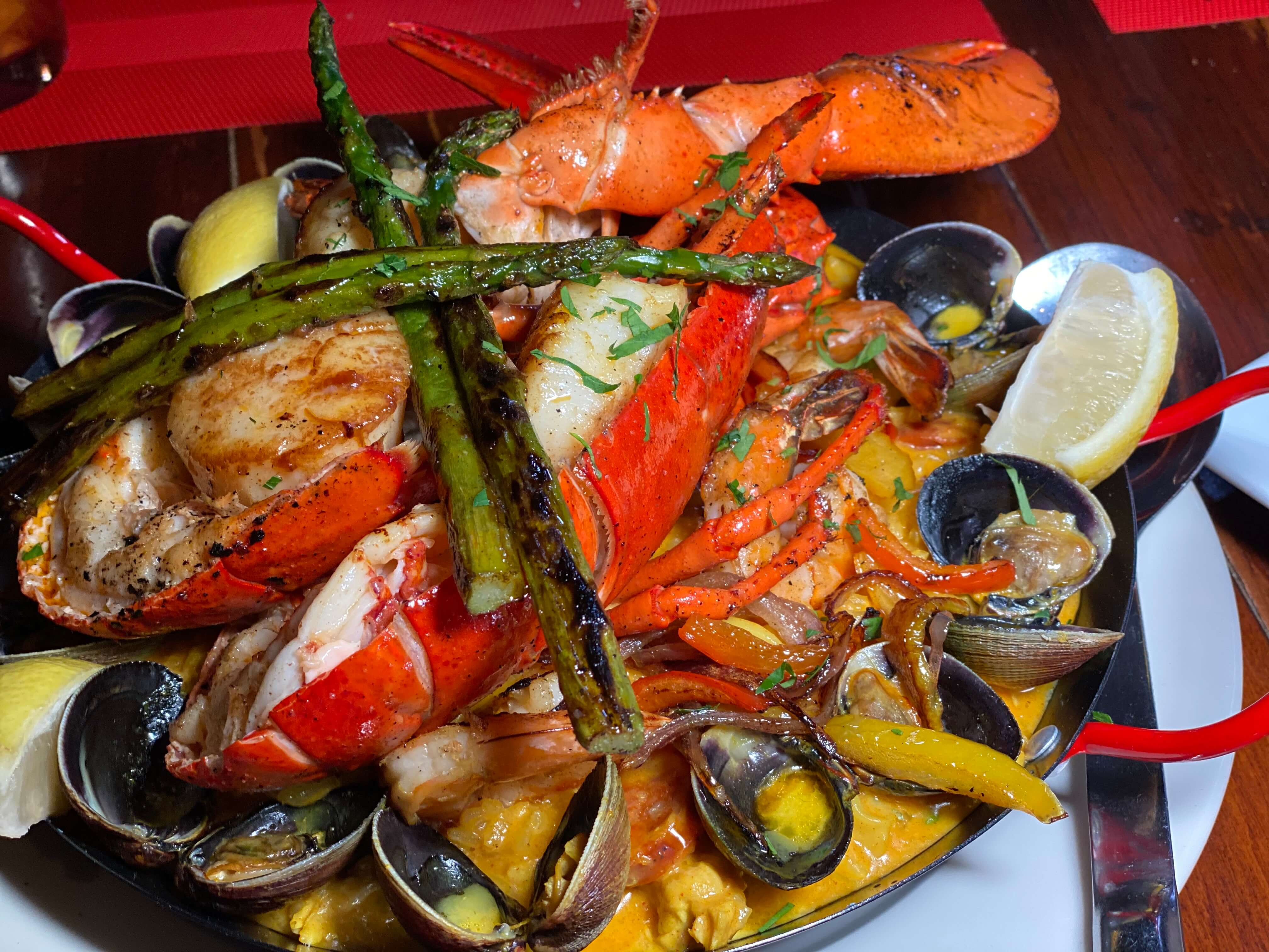 paella at Madonia in Stamford Connecticut