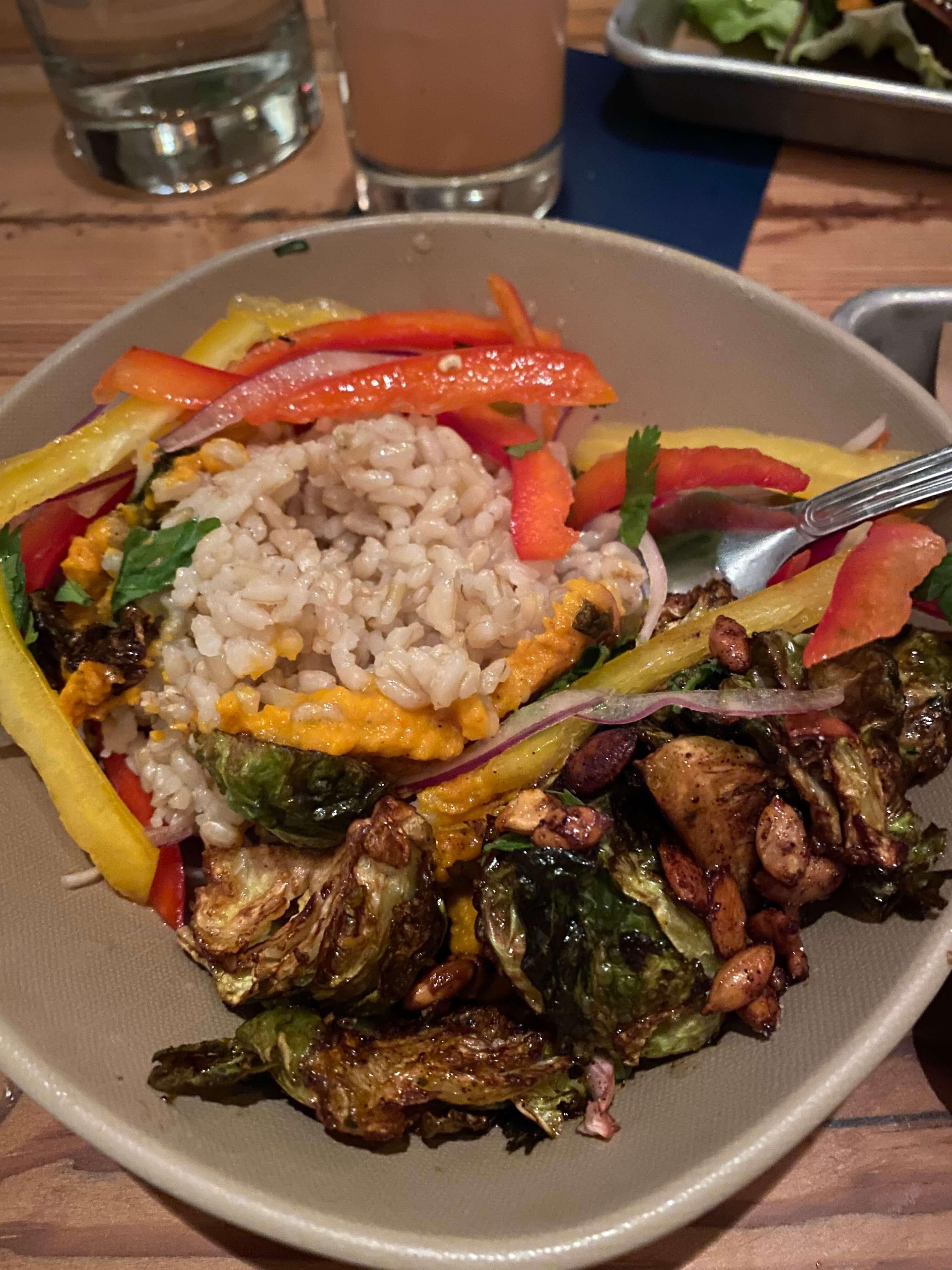 rice bowl at bartaco