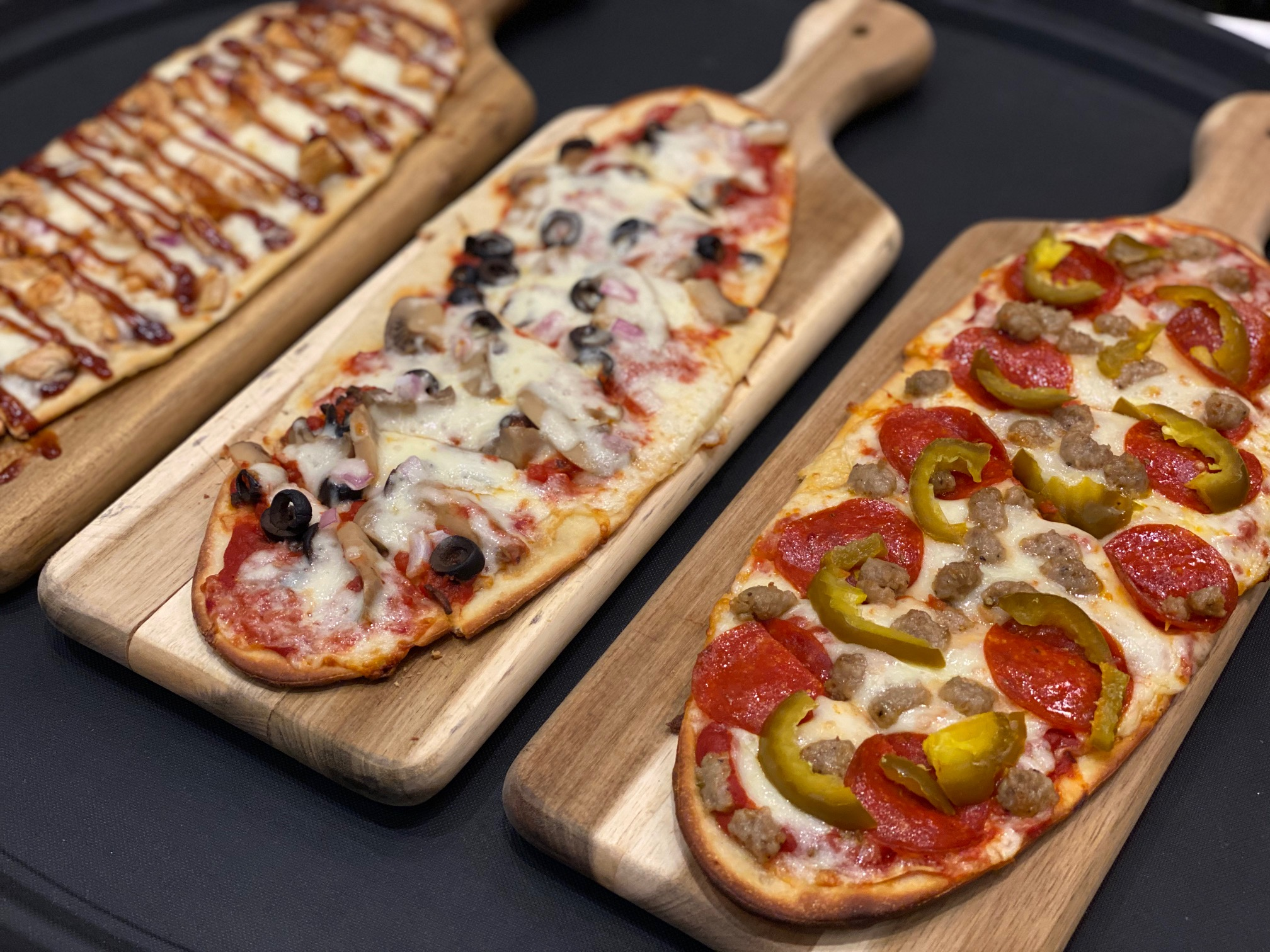 Upgraded Movie-Going Experience at the Bow Tie Cinemas and Majestic Bar in Stamford flatbreads
